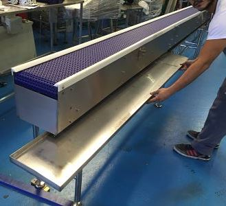 Cantilever Conveyor with Drip Tray Removal