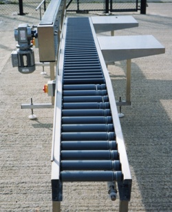 Roller Conveyor with packing tables